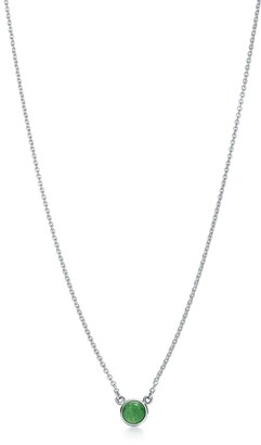 Tiffany & Co. Elsa Peretti Color by the Yard pendant in silver with green aventurine