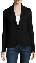 Neiman Marcus Cashmere Blazer Jacket, Black