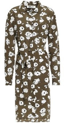 Diane von Furstenberg Prita Belted Printed Silk Crepe De Chine Shirt Dress