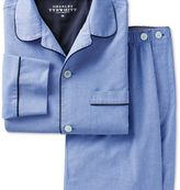 Charles Tyrwhitt Sky cotton pyjama set