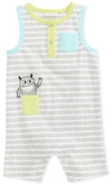 First Impressions Striped Monster Cotton Romper, Baby Boys (0-24 months)
