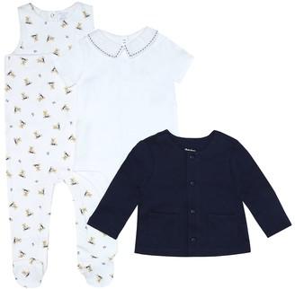 Polo Ralph Lauren Kids Cotton onesie, bodysuit and cardigan set