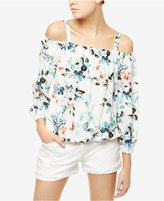 Sanctuary Tori Floral-Print Off-The-Shoulder Top