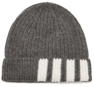 Thom Browne Four Bar-jacquard Wool Hat - Mens - Grey
