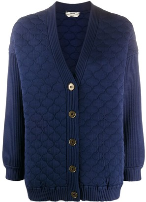 Fendi Quilted Cardigan