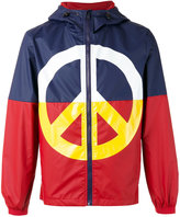 Love Moschino peace sign jacket - men - Polyamide/Polyester - 46