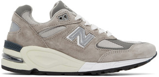 New Balance Grey Made In US 990 Sneakers