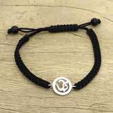 Diamond charm bracelet, 'Solitary Om'