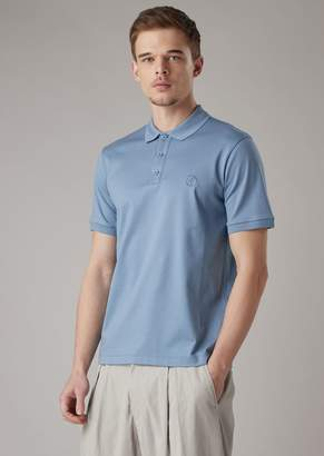 Giorgio Armani Stretch Cotton Micro Pique Polo Shirt