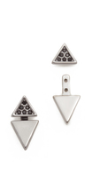 Rebecca Minkoff Two Part Triangle Earrings