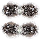 Sequin Stone Hair Clips - Set of 2