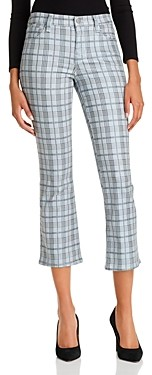 J Brand Selena Cropped Boot Jeans in Metallic Silverspoon Plaid - 100% Exclusive