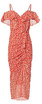 Veronica Beard Marilyn Cold Shoulder Red Dress
