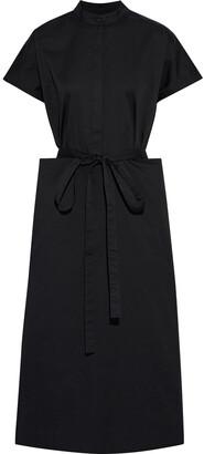 Co Belted Cotton-blend Midi Dress