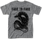 Face To Face T Shirt Snake band logo new Official Mens Grey