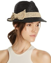 Kate Spade Crochet Packable Stripe Fedora Hat