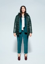 MANGO Violeta BY Detachable hood quilted coat dark green - S - Plus sizes