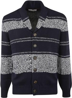 Brunello Cucinelli Rib Knit Striped Cardigan