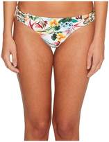 Red Carter Martinique Macrame Hipster Bikini Bottom Women's Swimwear
