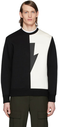 Neil Barrett Black and White Thunderbolt Sweatshirt