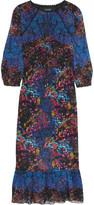 Saloni Terri printed silk-georgette midi dress