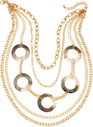 Natasha Accessories Limited Shell and Chain 5-Layer Necklace