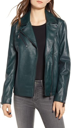Bernardo Curry Lamb Leather Moto Jacket