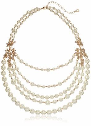 Anne Klein Women's Necklace 17 inch Pearl Vine Torsade