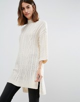 Vero Moda Cable Knit Side Split Sweater