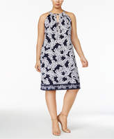 INC International Concepts Plus Size Paisley-Print Halter Dress, Created for Macy's