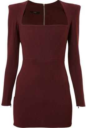 Alex Perry Structured Shoulder Dress