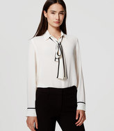LOFT Tipped Bow Blouse