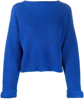 Semi-Couture Round Neck Cable-Knit Jumper