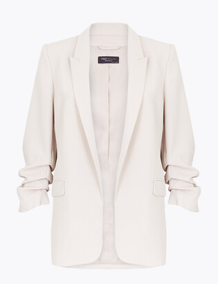 Marks and Spencer Ruched Sleeve Blazer