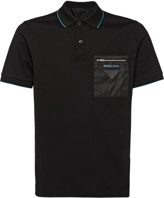Prada Zipped Pocket Polo Shirt