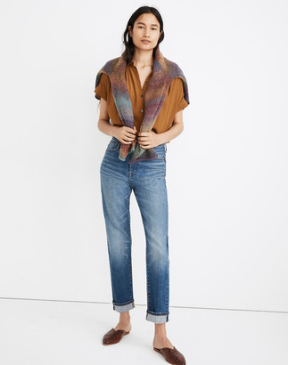 Madewell Petite Classic Straight Jeans in Ives Wash: Selvedge Edition