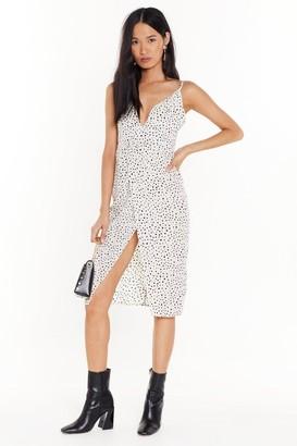 The One Nasty GalNasty Gal Womens That Dot Away Wrap Midi Dress - White - 4, White