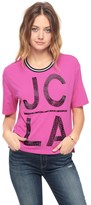 Juicy Couture Jc La Beaded Fashion Graphic Tee
