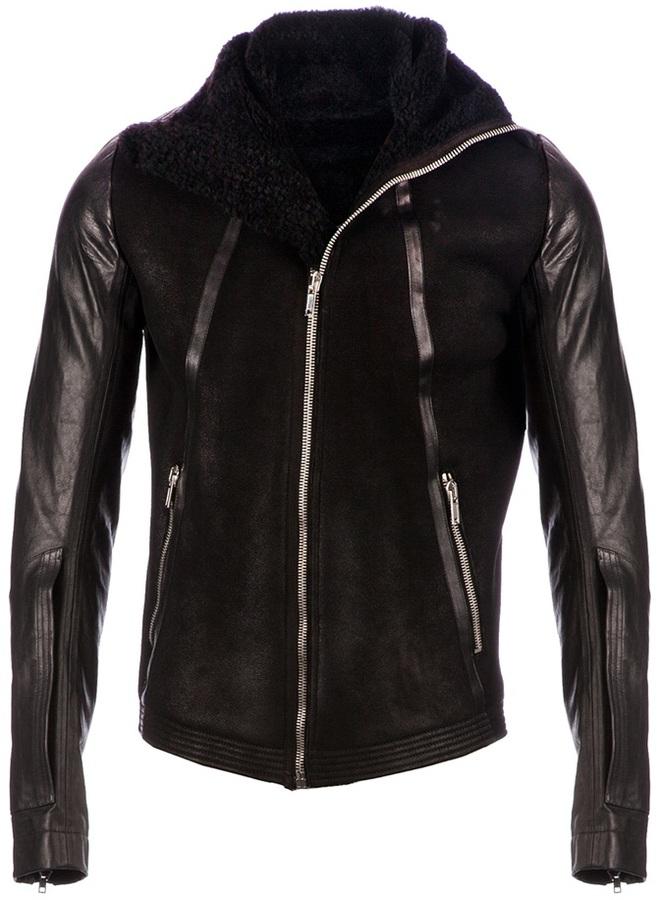 Rick Owens leather biker jacker