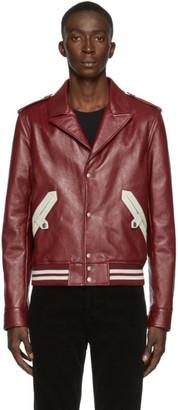 Saint Laurent Red Leather Jacket
