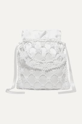Sophie Bille Brahe Cecilie Bahnsen - + Nori Woven Silicone And Silk Tote - White
