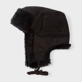 Paul Smith Men's Black Sheepskin Trapper Hat