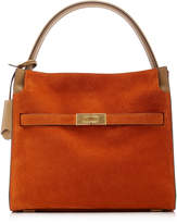 Tory Burch Lee Radziwill Suede Small Double Bag