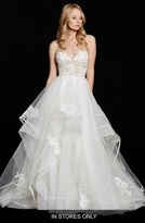 Women's Hayley Paige 'Chantelle' Strapless Lace & Tulle Ballgown