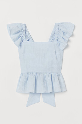H&M Tie-back Ruffled Top