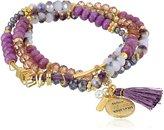 lonna & lilly Gold-Tone Neutral -Row Stretch Bracelet