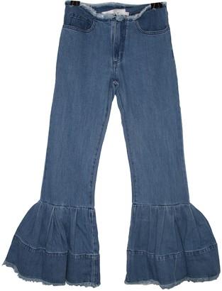 Marques Almeida Blue Cotton Jeans