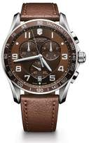 Victorinox Men's Chronograph Class XLS Brown Leather Strap Watch, 45mm