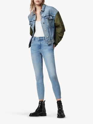 AllSaints Dax High Rise Skinny Jeans
