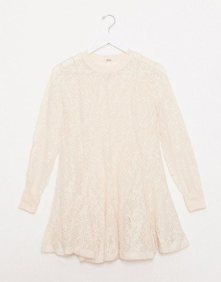 Free People Coffee In The Morning knit top-Cream